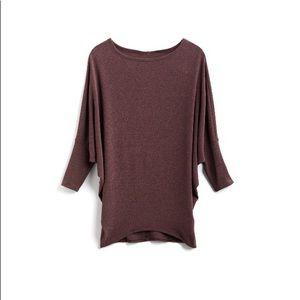 NWT Stitch Fix Purple Dolman Knit 3/4 Sleeve Shirt
